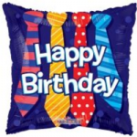 "HAPPY BIRTHDAY TIES BALLOON  18""  15133-18"